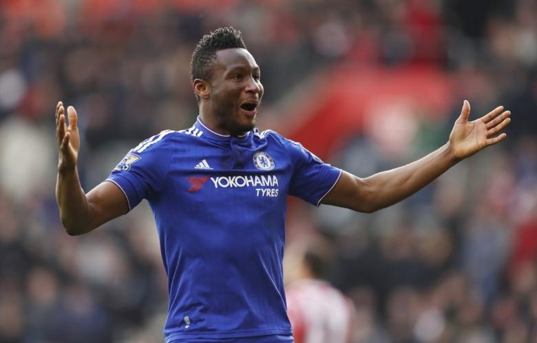 Football Soccer - Southampton v Chelsea - Barclays Premier League - St Mary's Stadium - 27/2/16 Chelsea's John Obi Mikel celebrates Action Images via Reuters / John Sibley Livepic