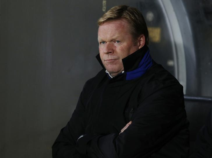 Everton manager Ronald Koeman before the match  Reuters / Andrew Yates