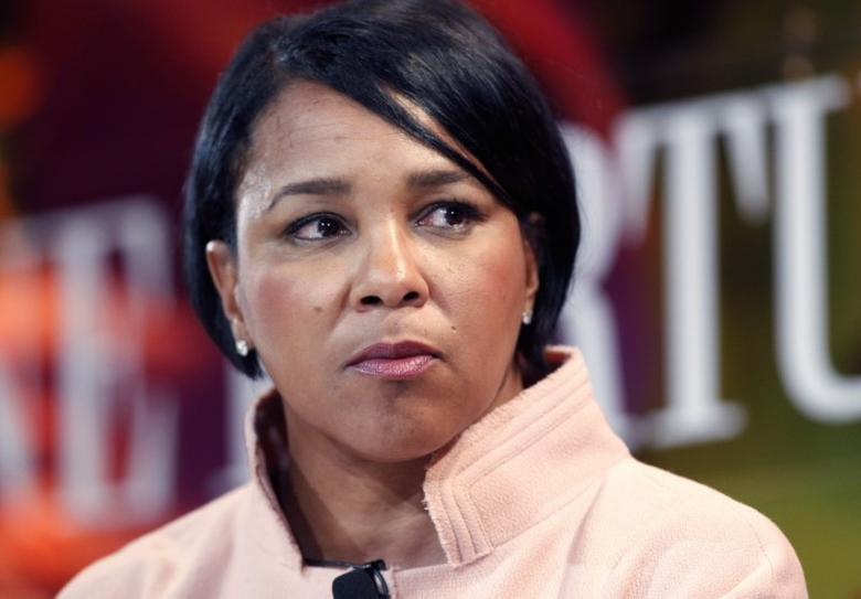 Rosalind Brewer, president and chief executive of Sam's Club, speaks about leadership at Fortune's Most Powerful Women Summit in Laguna Niguel, California October 2, 2012.  REUTERS/Alex Gallardo