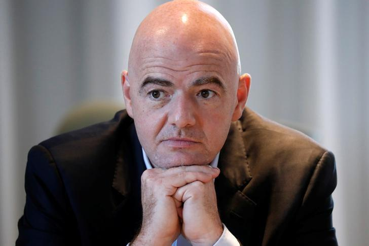 FIFA President Gianni Infantino attends a news conference after the governing body's first Executive Football Summit in Roissy, France, November 23, 2016.  REUTERS/Charles Platiau/Files