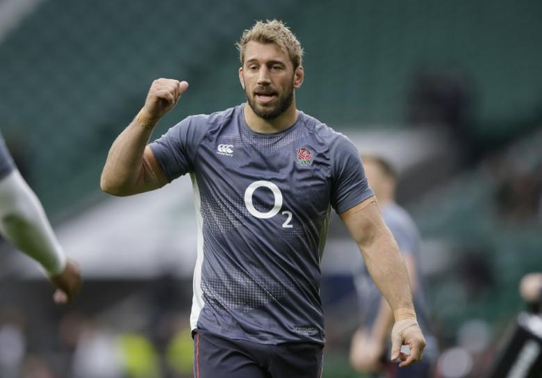 Britain Rugby Union - England v South Africa - 2016 Old Mutual Wealth Series - Twickenham Stadium, London, England - 12/11/16 England's Chris Robshaw during the warm up before the game Action Images via Reuters / Henry Browne Livepic