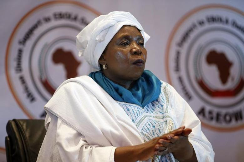 African Union Commission Chairperson Nkosazana Dlamini-Zuma attends the launch ceremony of the African Union support to Ebola outbreak in West Africa (ASEOWA) in Lagos December 3, 2014.  REUTERS/Akintunde Akinleye