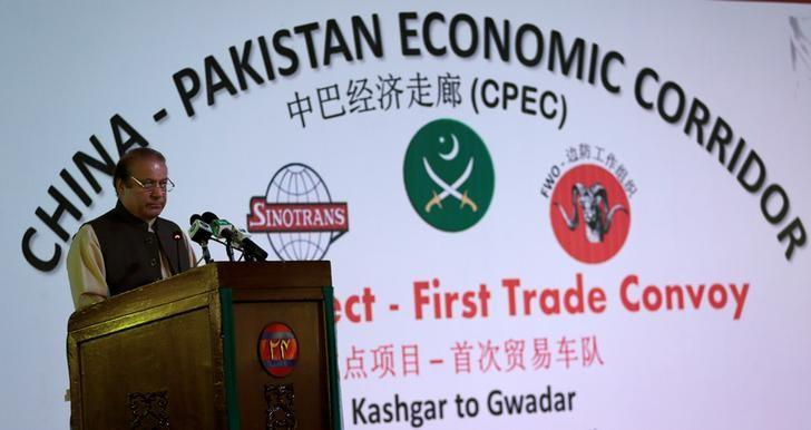 Pakistan's Prime Minister Nawaz Sharif speaks at the inauguration of the China Pakistan Economic Corridor port in Gwadar, Pakistan November 13, 2016. REUTERS/Caren Firouz/Files
