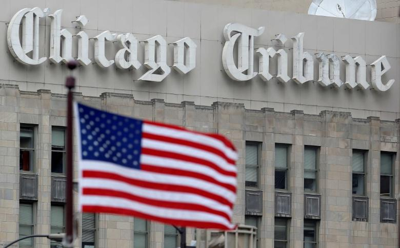 The Chicago Tribune building is seen in Chicago, Illinois, U.S. May 16, 2016.     REUTERS/Jim Young/File Photo