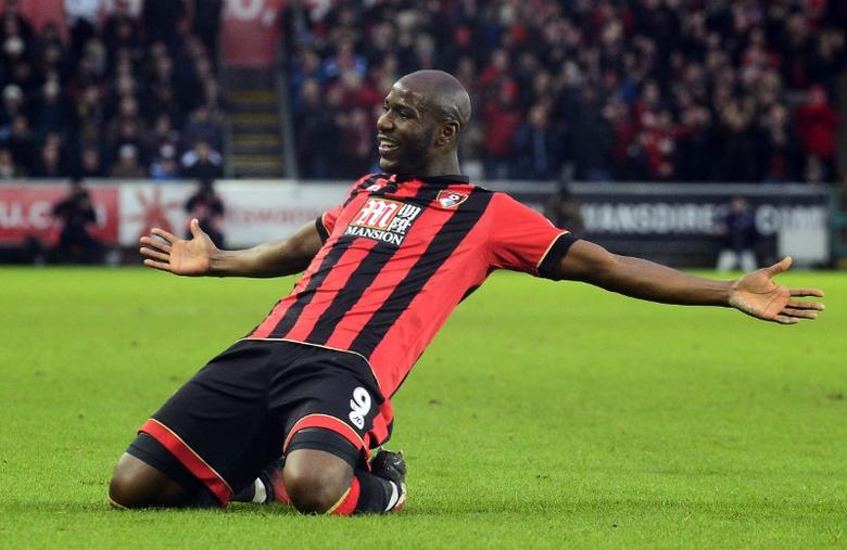 Bournemouth's Benik Afobe celebrates scoring their first goal  Reuters / Rebecca Naden