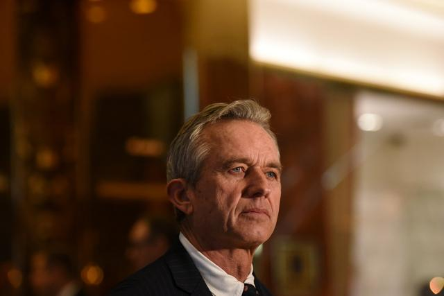 Robert Kennedy Jr. speaks with members of the press at Trump Tower in New York City, U.S., January 10, 2017. REUTERS/Stephanie Keith