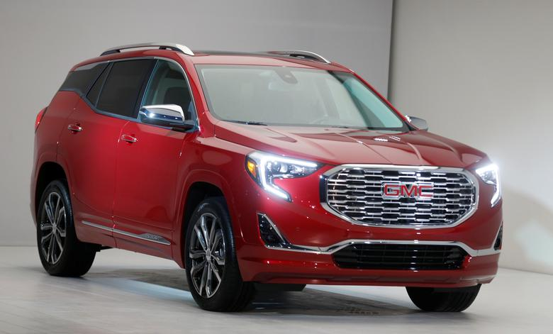 General Motors Corp., introduces its GMC 2018 Terraine SUV before the start of press days for the North American International Auto Show in Detroit, Michigan, U.S.,  January 8, 2017.   REUTERS/Rebecca Cook