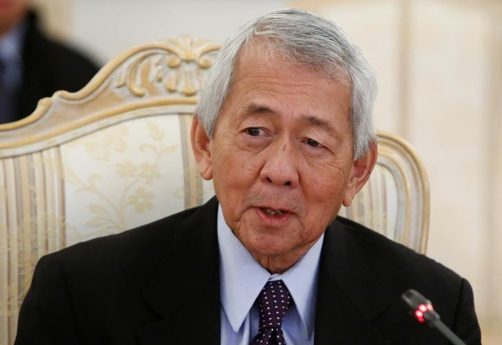 Philippine Foreign Minister Perfecto Yasay speaks during a meeting with Russian Foreign Minister Sergei Lavrov (not pictured) in Moscow, Russia, December 5, 2016. REUTERS/Sergei Karpukhin/Files