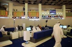 سوق دبي المالي خلال التداول يوم 9 نوفمبر تشرين الثاني 2016 - أرشيف رويترز