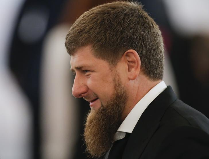 Ramzan Kadyrov, head of Russia's Chechnya, waits before an annual state of the nation address attended by Russian President Vladimir Putin at the Kremlin in Moscow, Russia, December 1, 2016. REUTERS/Maxim Shemetov
