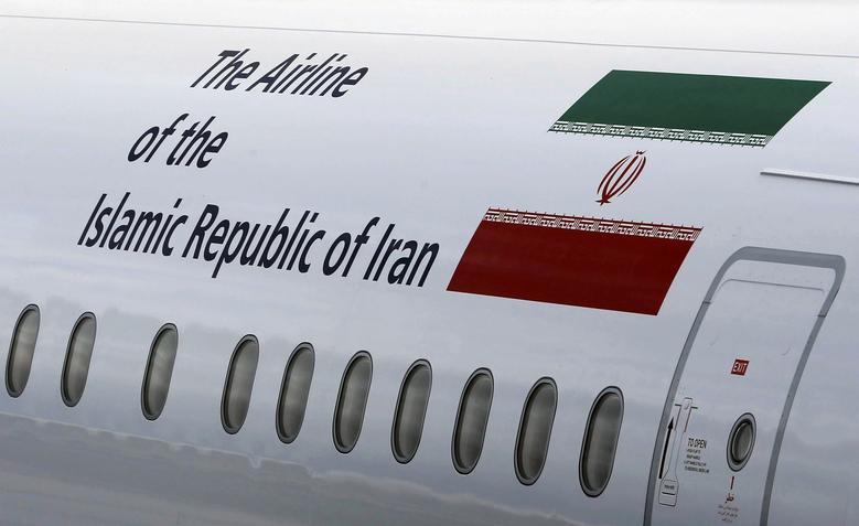 An IranAir Airbus A321 with the description ''The Airline of the Islamic Republic of Iran'' on the passenger plane as the company takes delivery of the first new Western jet under an international sanctions deal in Colomiers, near Toulouse, France, January 11, 2017.   REUTERS/Regis Duvignau