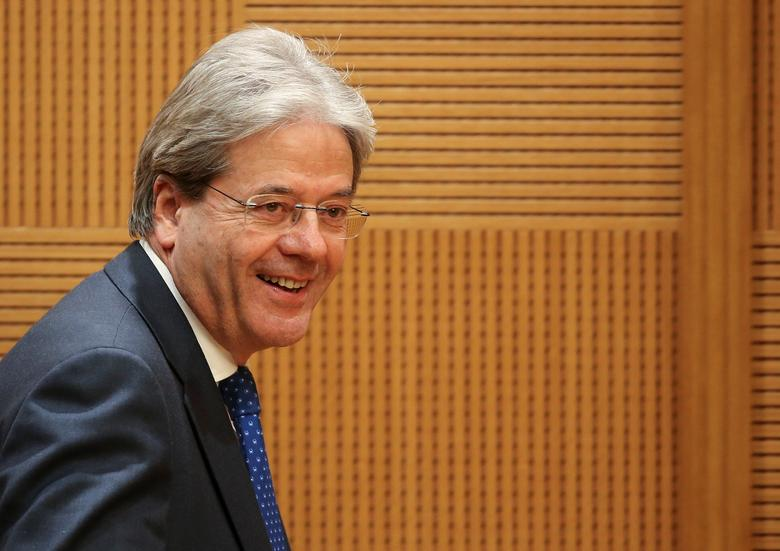 Italy's Prime Minister Paolo Gentiloni arrives to hold a traditional end-year press conference in Rome, Italy December 29, 2016. REUTERS/Alessandro Bianchi