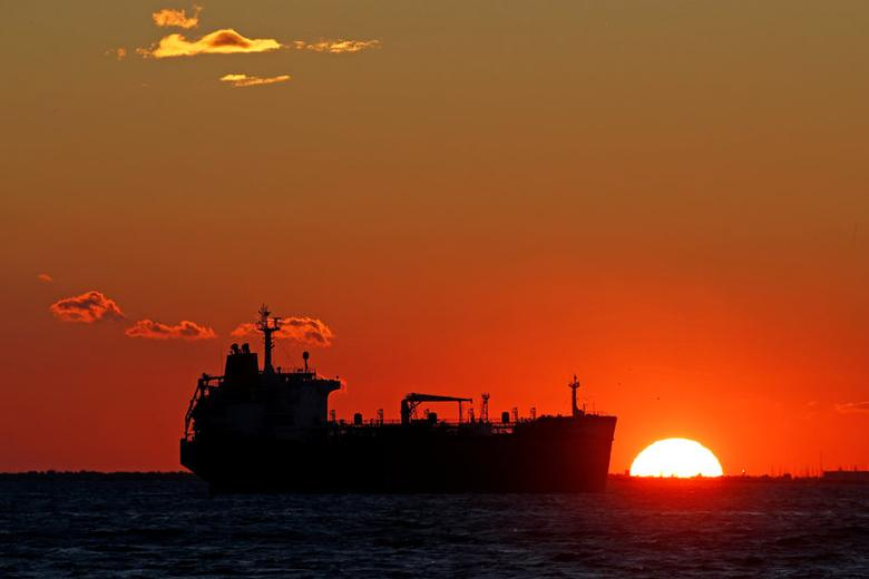 FILE PHOTO: An oil tanker sits anchored off the Fos-Lavera oil hub near Marseille, France, October 15, 2015. REUTERS/Jean-Paul Pelissier/File Photo