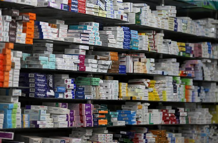 Medicine are arranged on a shelf inside in a pharmacy in Cairo, Egypt, November 17, 2016. REUTERS/Mohamed Abd El Ghany