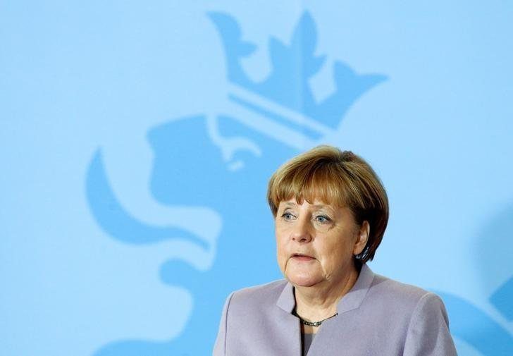 German Chancellor Angela Merkel addresses a news conference at the Museum of Modern Art Grand Duke Jean during an official visit to Luxembourg, January 12, 2017.    REUTERS/Francois Lenoir