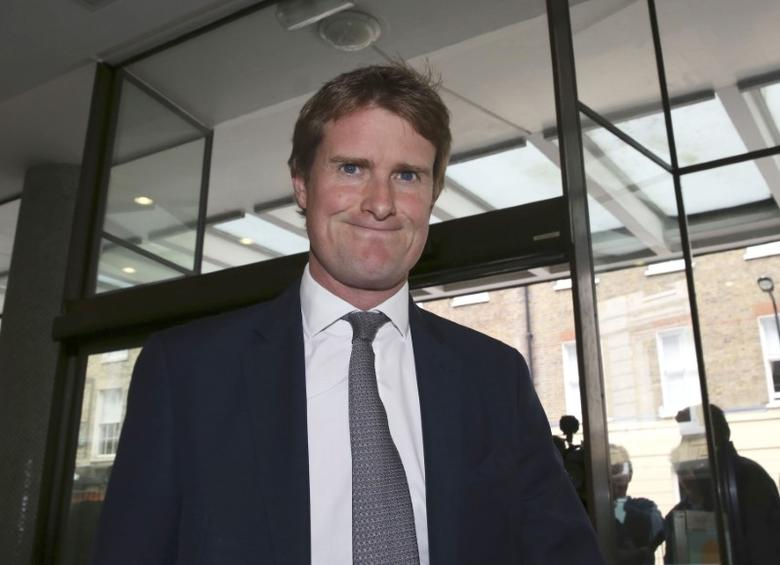 Prospective Labour leader Tristram Hunt arrives at the annual conference of independent organisations for Labour Party members and trade unionists, London, May 16, 2015.   REUTERS/Paul Hackett