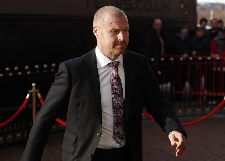 Burnley manager Seans Dyche arrives before the match Reuters / Russell Cheyne