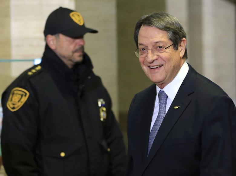 Cypriot President Nicos Anastasiades arrives for the Conference on Cyprus at the European headquarters of the United Nations in Geneva, Switzerland, January 12, 2017. REUTERS/Pierre Albouy