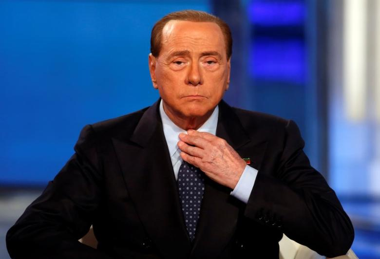 Italy's former Prime Minister Silvio Berlusconi attends television talk show ''Porta a Porta'' (Door to Door) in Rome, Italy, November 30, 2016.  REUTERS/Remo Casilli