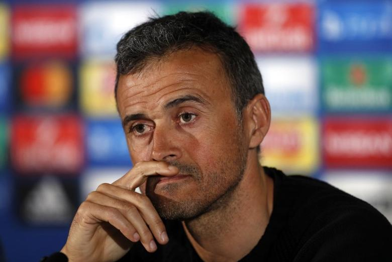 Barcelona coach Luis Enrique during the press conference Action Images via Reuters / Lee Smith