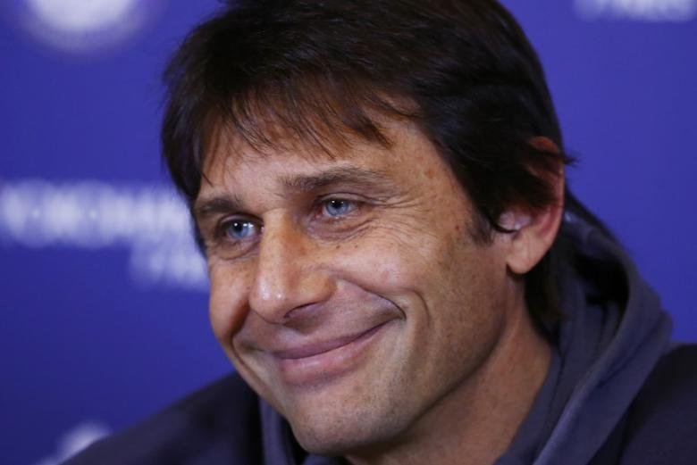 Chelsea manager Antonio Conte during the press conference Action Images via Reuters / Peter Cziborra