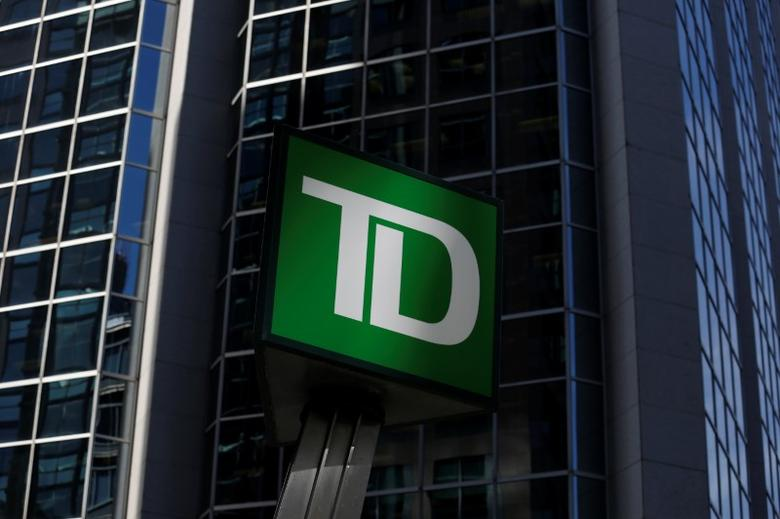 A Toronto-Dominion Bank (TD) sign is seen outside of a branch in Ottawa, Ontario, Canada, May 26, 2016. REUTERS/Chris Wattie