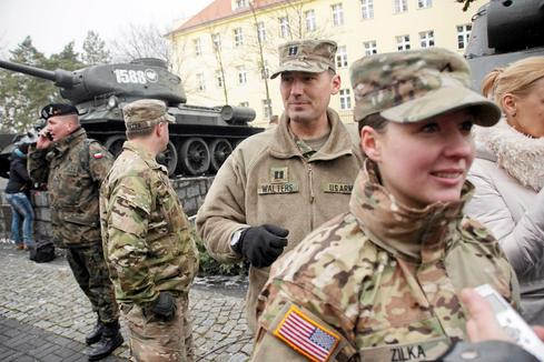 U.S. military in eastern Europe since Crimea conflict