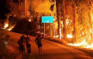 Wildfires raging in Chile