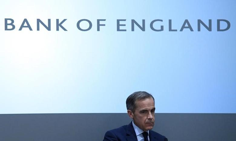 Britain's Bank of England Governor Mark Carney listens after delivering a speech at the London School of Economics in London, Britain, January 16, 2017. REUTERS/Toby Melville