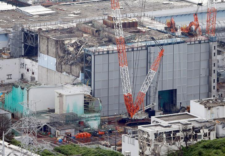 An aerial view shows the No.3 reactor building at Tokyo Electric Power Co. (TEPCO)'s tsunami-crippled Fukushima Daiichi nuclear power plant in Fukushima Prefecture, in this photo taken by Kyodo July 18, 2013.  Mandatory credit Kyodo/via REUTERS/File photo