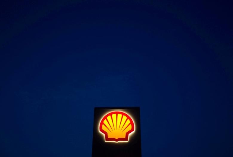 A Shell sign is pictured near Nowshera, Pakistan's northwest Khyber-Pakhtunkhwa Province September 8, 2010. REUTERS/Morteza Nikoubazl/File Photo