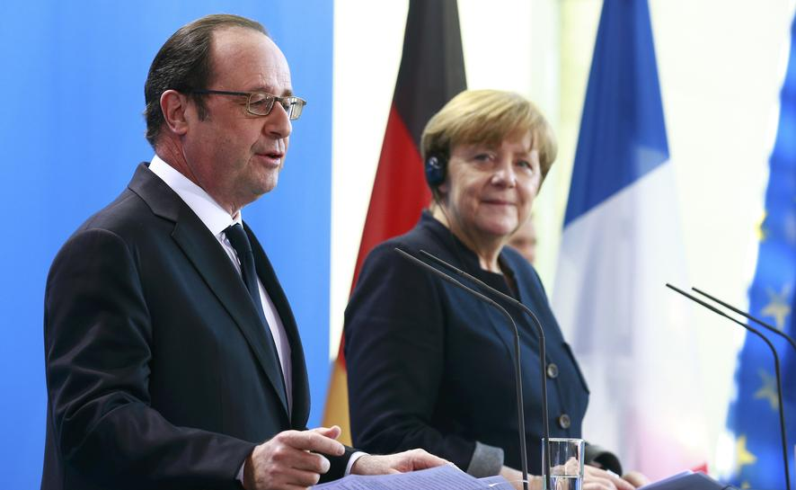 Merkel, Hollande call for European unity in face of big challenges