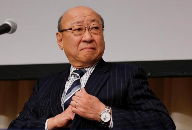 2月1日、任天堂の君島達己社長は経営方針説明会で、注力しているスマートフォン向けゲームについて、今後も「年に2─3本はお客様が楽しんでいただけるようなタイトルを作り続けていく」との方針を示した。(2017年 ロイター/Toru Hanai)