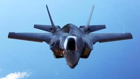 FILE PHOTO -  A U.S.Marine Corps F-35B joint strike fighter jet conducts aerial maneuvers during aerial refueling training over the Atlantic Ocean in this undated picture released August 20, 2015.  The Marine Corps' F-35B model can take off from warships and aircraft carriers and land like a helicopter.   REUTERS/US Marine Corps/Handout/File Photo