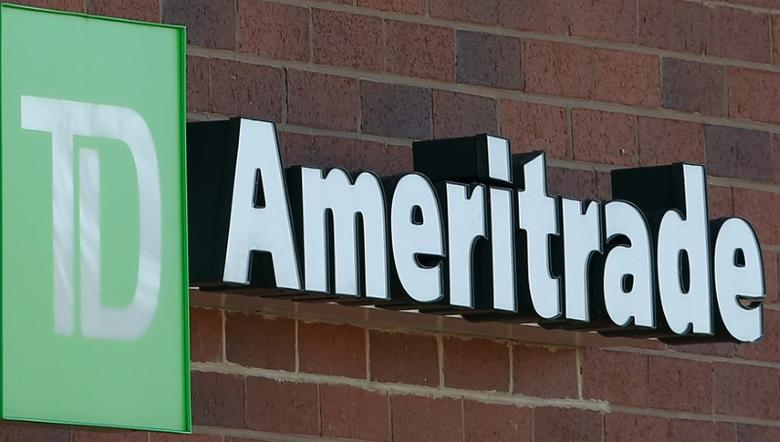 A TD Ameritrade sign is seen outside a branch in Schaumburg, Illinois, U.S., October 24, 2016.    REUTERS/Jim Young
