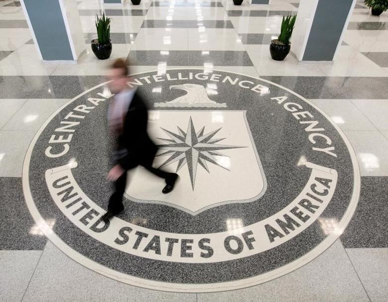 The lobby of the CIA Headquarters Building in Langley, Virginia, U.S. on August 14, 2008.  REUTERS/Larry Downing/File Photo -