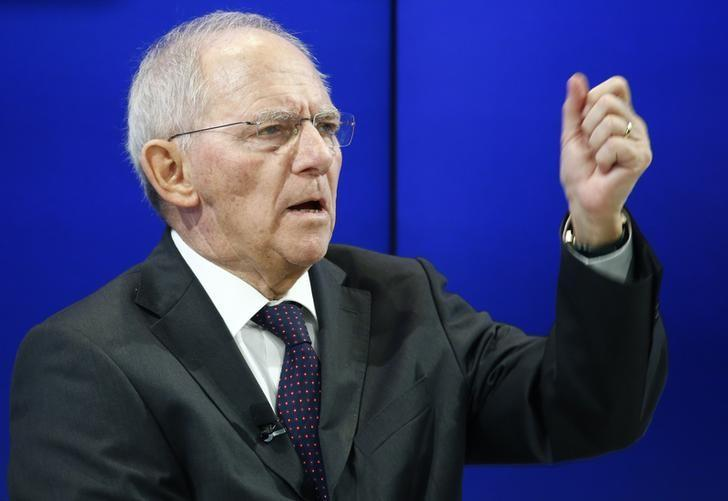 German Finance Minister Wolfgang Schaeuble attends the World Economic Forum (WEF) annual meeting in Davos, Switzerland January 19, 2017.  REUTERS/Ruben Sprich