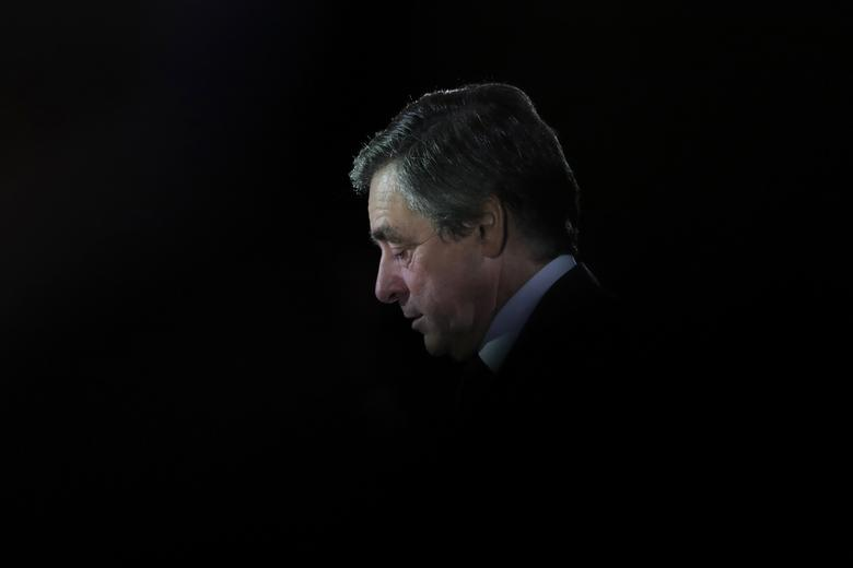 Francois Fillon, former French prime minister, member of The Republicans political party and 2017 presidential candidate of the French centre-right, attends a political rally in Charleville-Mezieres, France. REUTERS/Christian Hartmann