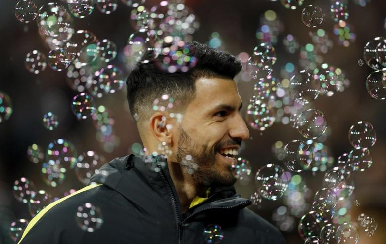 Britain Soccer Football - West Ham United v Manchester City - Premier League - London Stadium - 1/2/17 Manchester City's Sergio Aguero before the match  Action Images via Reuters / John Sibley Livepic