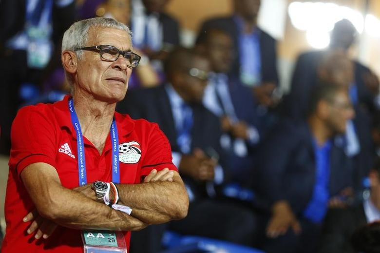 Football Soccer - African Cup of Nations - Semi Finals - Cameroon v Ghana - Stade de Franceville, Franceville, Gabon - 2/2/17 Egypt coach Hector Cuper in the stands Reuters / Amr Abdallah Dalsh Livepic -