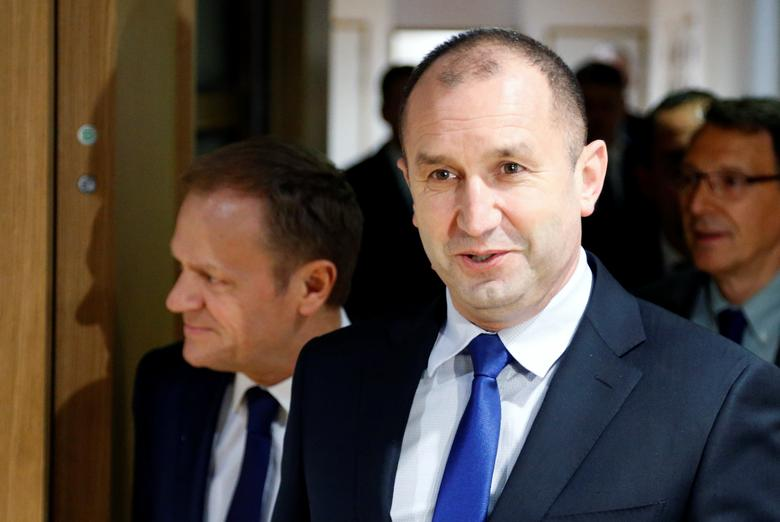 Bulgaria's President Rumen Radev arrives for a meeting with European Council President Donald Tusk in Brussels, Belgium, January 30, 2017.    REUTERS/Francois Lenoir