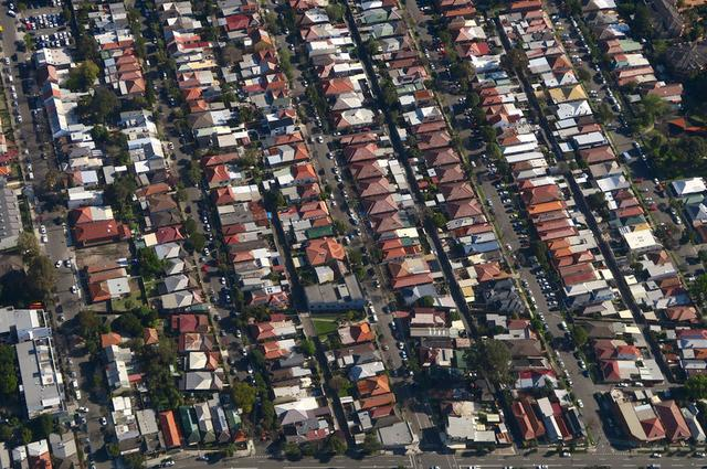 Properties can be seen in the Sydney suburb of Enmore, Australia, September 5, 2016. Picture taken September 5, 2016.      REUTERS/David Gray