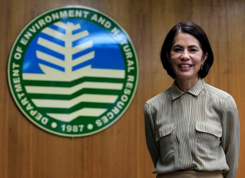 Philippines' Secretary of Environment and Natural Resources Regina Lopez poses for a picture during an interview with Reuters at the headquarters of the Department of Environment and Natural Resources (DENR) in Quezon city, metro Manila, Philippines February 6, 2017. REUTERS/Romeo Ranoco
