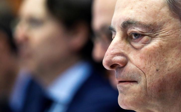 European Central Bank (ECB) President Mario Draghi testifies before the European Parliament's Economic and Monetary Affairs Committee in Brussels, Belgium February 6, 2017. REUTERS/Yves Herman