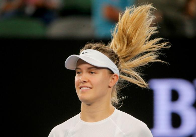 Tennis - Australian Open - Melbourne Park, Melbourne, Australia - 20/1/17 Canada's Eugenie Bouchard looks on during her Women's singles third round match against Coco Vandeweghe of the U.S. REUTERS/Jason Reed