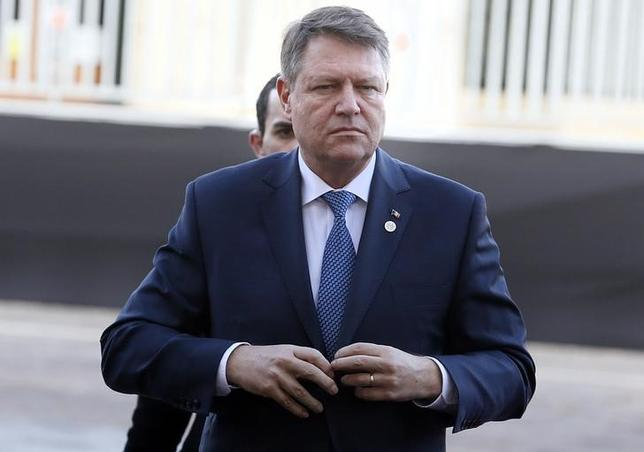 Romanian President Klaus Werner Iohannis arrives to attend the European Union leaders summit in Valletta, Malta, February 3, 2017. REUTERS/Yves Herman