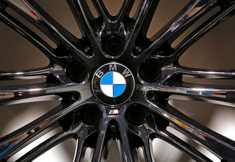 FILE PHOTO:  A BMW logo is seen on a wheel at the Brussels International Auto Show in Belgium,  January 22, 2015.    REUTERS/Yves Herman/File Photo