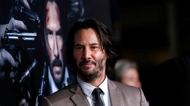FILE PHOTO - Cast member Keanu Reeves poses at the premiere of the movie ''John Wick: Chapter 2'' in Los Angeles, California U.S., January 30, 2017.  REUTERS/Mario Anzuoni/File Photo