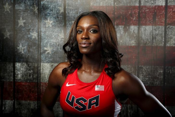 Hurdler Dawn Harper-Nelson poses for a portrait at the U.S. Olympic Committee Media Summit in Beverly Hills, Los Angeles, California March 7, 2016. REUTERS/Lucy Nicholson/Files