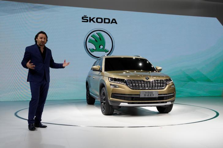Jozef Kaban, Head of Skoda Design, introduces Skoda Kodiaq at a news conference in Guangzhou, China November 17, 2016.      REUTERS/Bobby Yip/Files